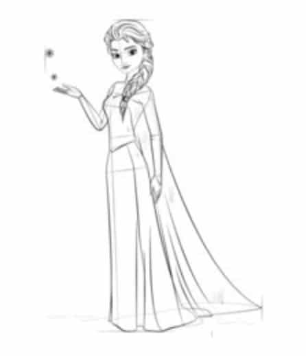 Tutorial De Dibujo Frozen Elsa Paso A Paso Para Ninos