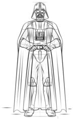 How to draw: Darth Vader - easy step by step tutorial for kids