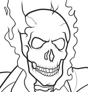 Tutorial De Dibujo Ghost Rider Paso A Paso Para Niños