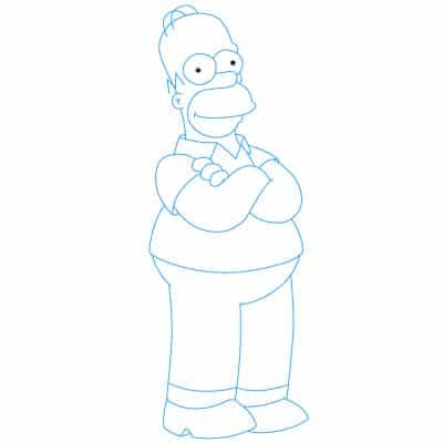Homer Simpson Bajki Nauka rysowania