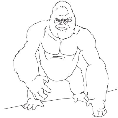 How To Draw King Kong Easy Step By Step Tutorials For Kids