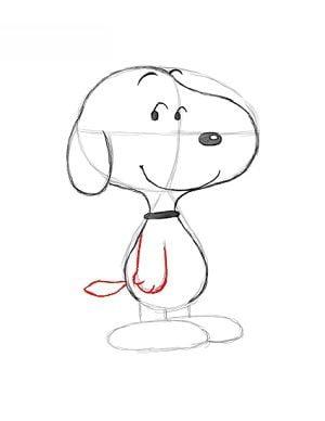 Snoopy Bajki Nauka rysowania