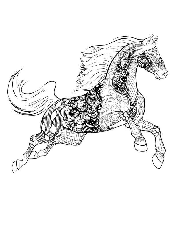 ausmalbilder f r erwachsene pferde zum ausdrucken kostenlos jpg pdf. Black Bedroom Furniture Sets. Home Design Ideas
