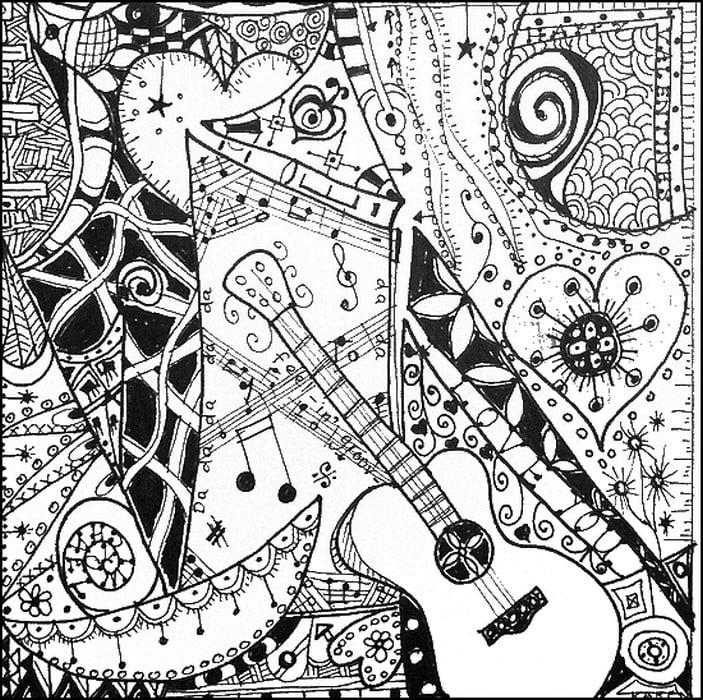 ausmalbilder für erwachsene musik zum ausdrucken