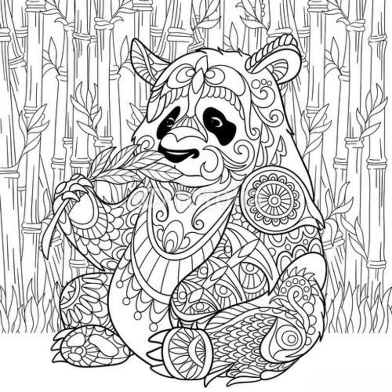 ausmalbilder f r erwachsene panda zum ausdrucken kostenlos jpg pdf. Black Bedroom Furniture Sets. Home Design Ideas