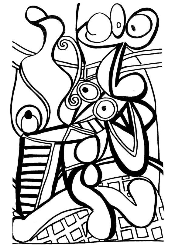 Dibujos para colorear para adultos: Pablo Picasso imprimible
