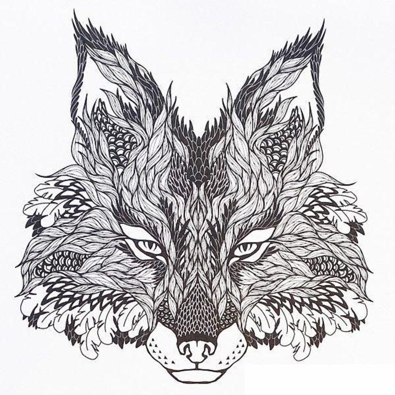 Ausmalbilder f r erwachsene Wolf