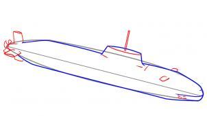 Łódź podwodna Nauka rysowania Transport