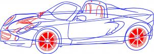 Lotus Elise Nauka rysowania Transport