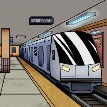 Metro Nauka rysowania Transport