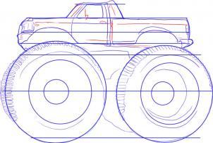 Monster truck Nauka rysowania Transport