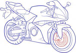Motocykl sportowy Nauka rysowania Transport