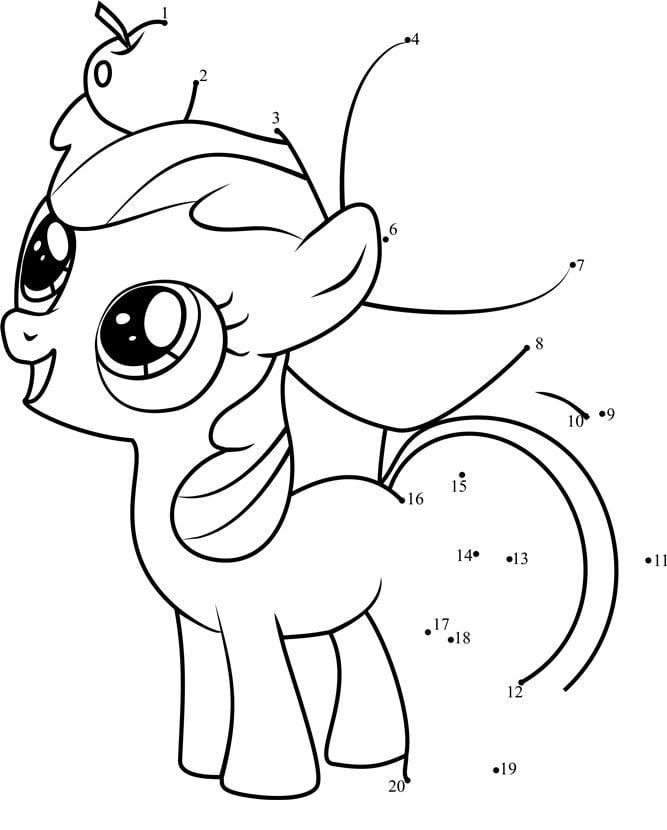 Unir Puntos My Little Pony Imprimible Gratis Para Los Niños Y Los