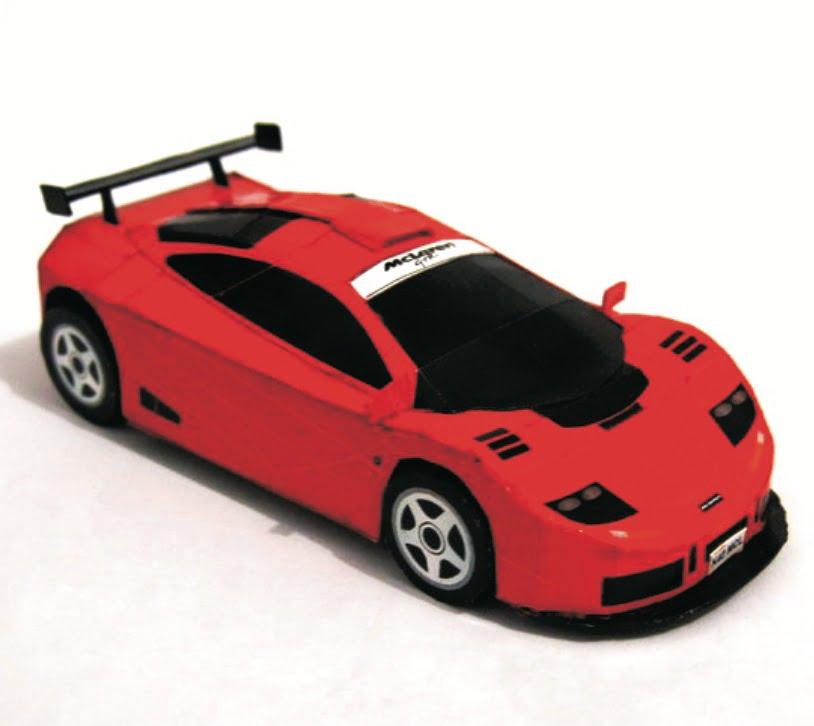 McLaren F1 Autos Papiermodelle
