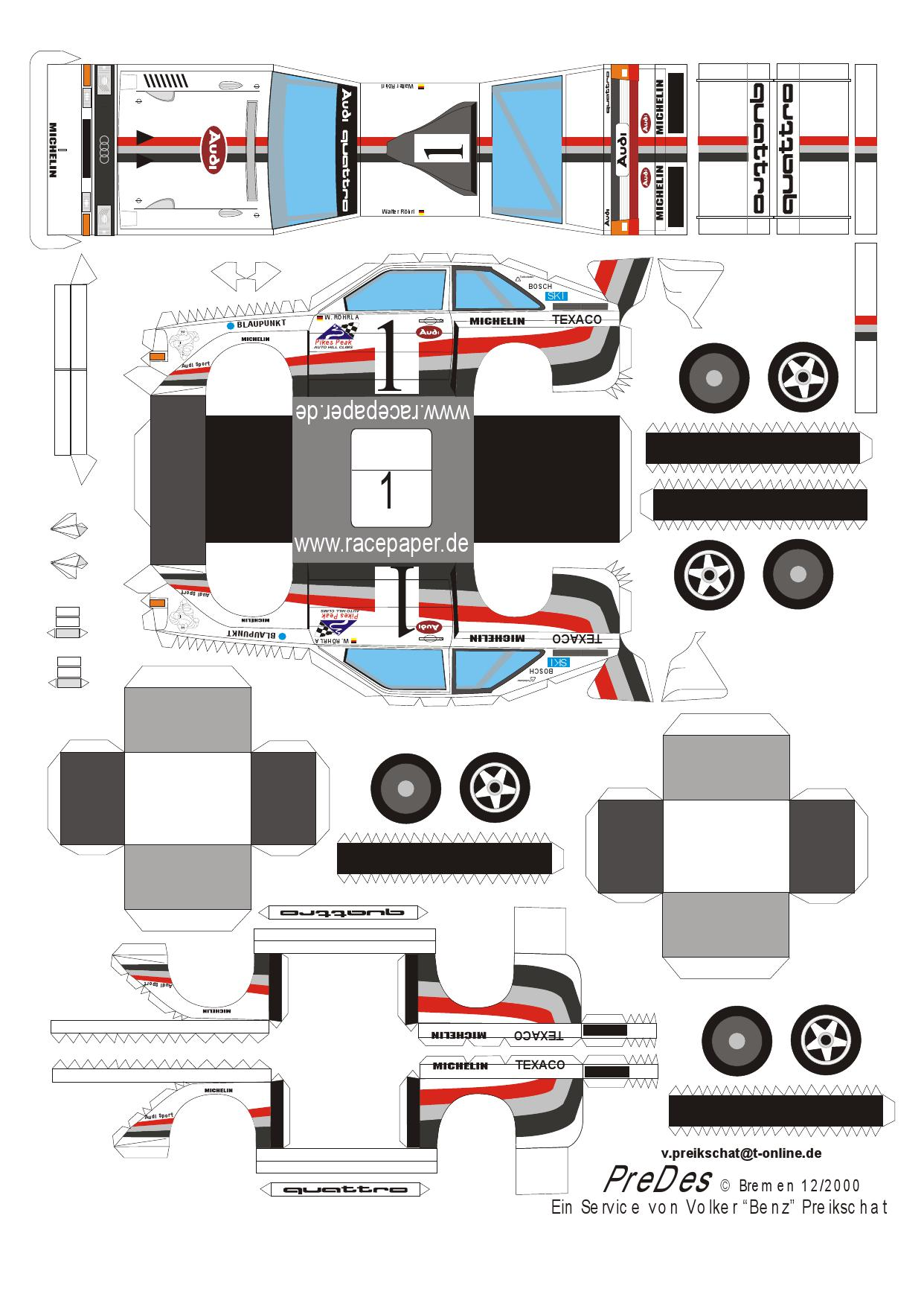 Paper Models Audi S1 Free Amp Printable For Kids And Adults