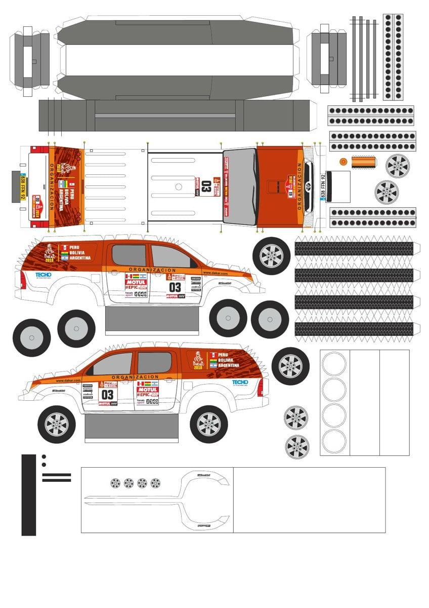 Toyota Hilux Papierowe modele Samochody