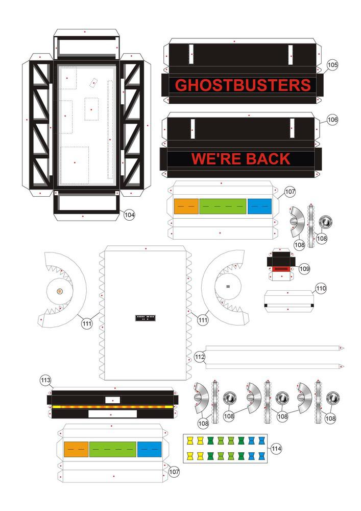 Ghostbusters' car Cars Paper models