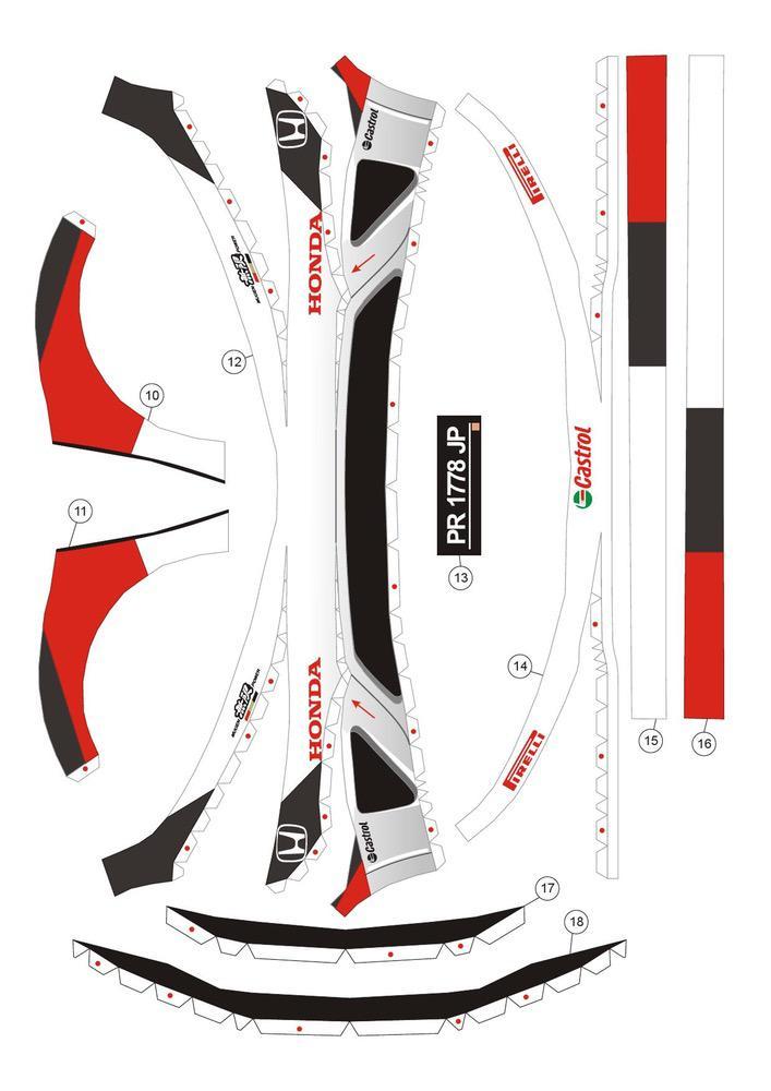 Honda Civic Cars Paper models