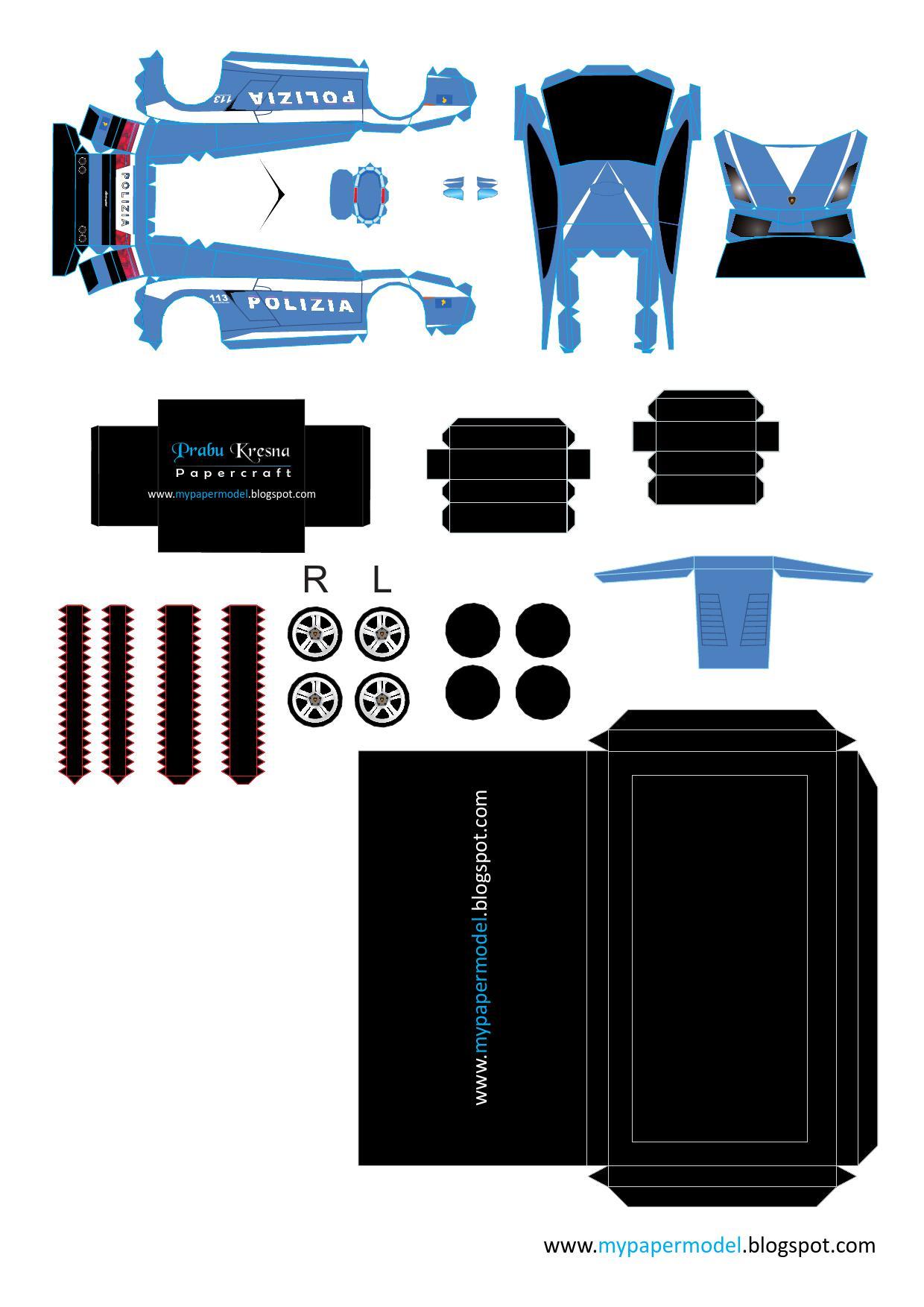 Paper Model Lamborghini Gallardo Free Amp Printable For