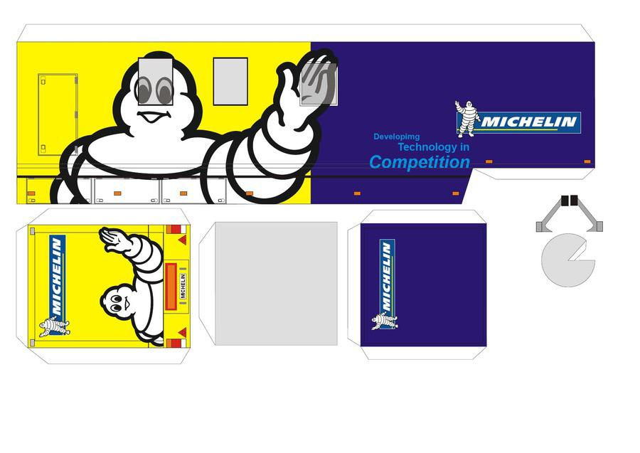 Michelin Lastkraftwagen Autos Papiermodelle