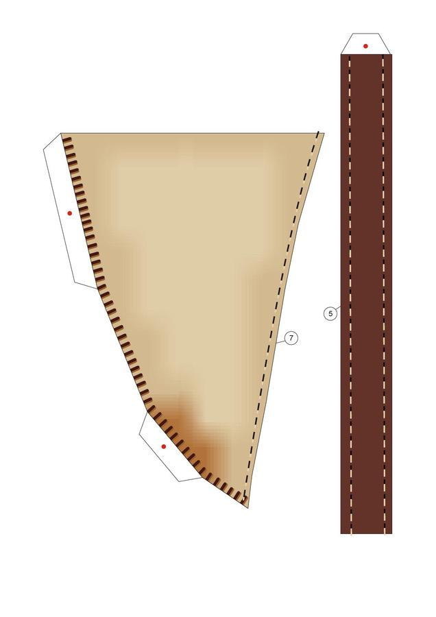 Maska Papierowe modele Skala 1:1